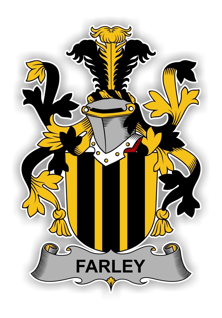 Farley Family Crest Vinyl Die Cut Decal Sticker 4