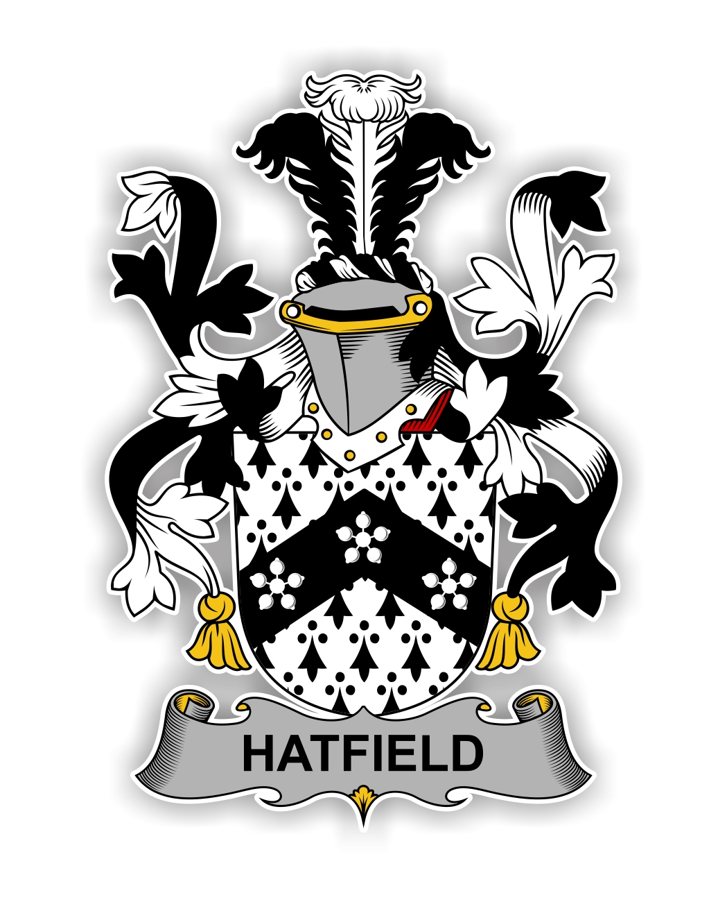 Hatfield Family Crest Vinyl Die Cut Decal Sticker 4