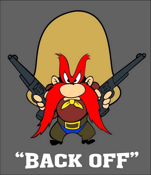 Yosemite Sam Quot Back Off Quot Vinyl Decal Sticker 4 Sizes