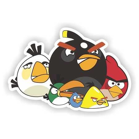 "Angry Birds ""The Group"" Flying Die-cut Vinyl Decal / Sticker ** 4 Sizes"