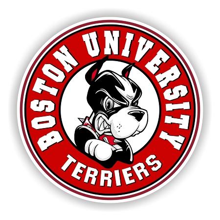 Boston University Terriers Round Emblem Die Cut Decal 4