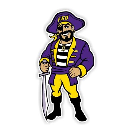Ecu East Carolina University Pirates E Die Cut Decal
