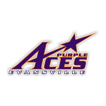 Evansville Purple Aces B Die Cut Decal 4 Sizes