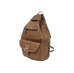 Great Backpack / Purse in Nice Leather (BROWN)