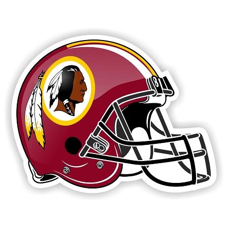 Helmet Washington Redskins Die Cut Decal Sticker 4