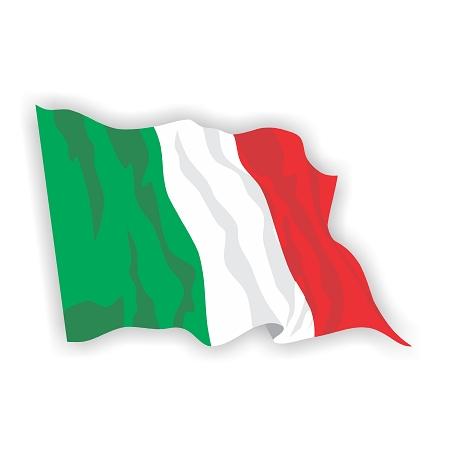 Italy Flag Waving Vinyl Die-Cut Decal / Sticker ** 4 Sizes