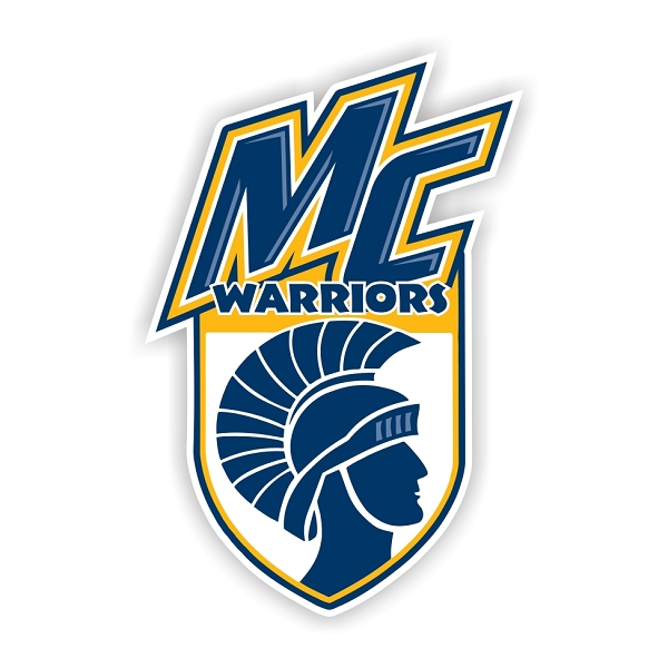 Merrimack College Warriors B Die Cut Decal 4 Sizes
