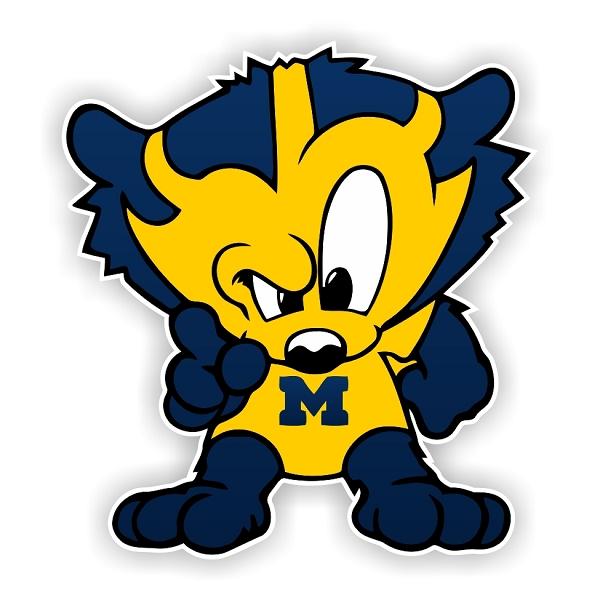 Michigan University Wolverines F Die Cut Decal 4 Sizes