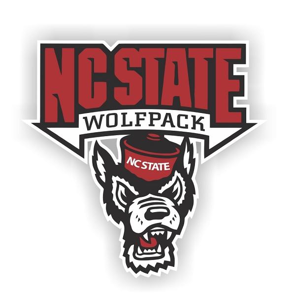 North Carolina State Wolfpack Vinyl Die Cut Decal