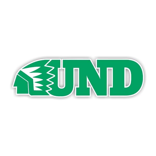 North Dakota Fighting Sioux D Vinyl Die Cut Decal