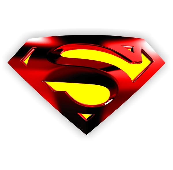 Superman Metalic Emblem Die Cut Vinyl Decal Sticker 4