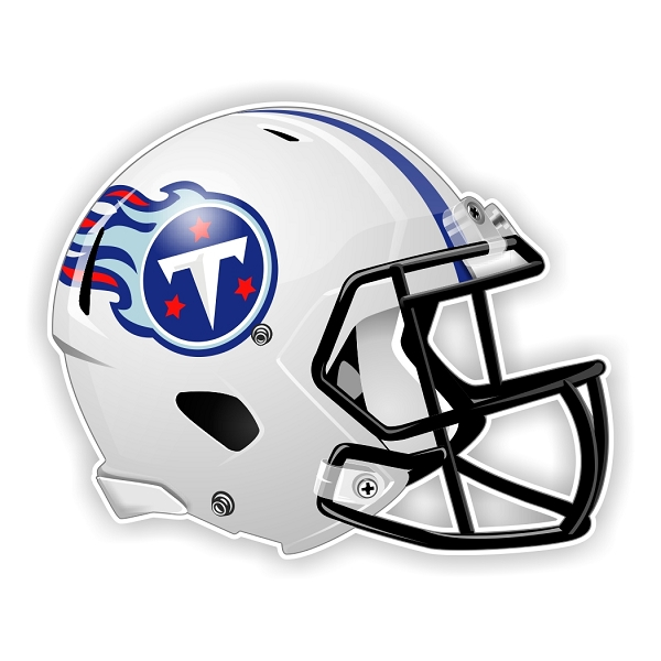 Tennessee Titans New Shape Helmet Die Cut Decal 4 Sizes