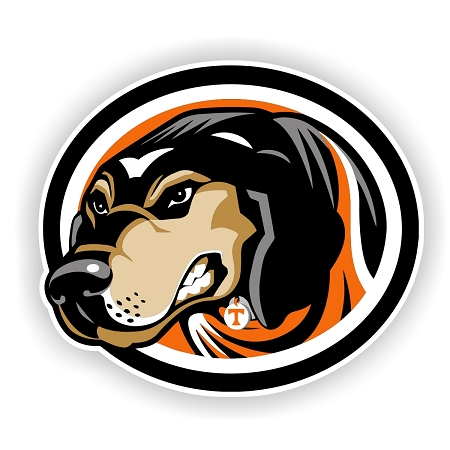 """University of Tennessee """"Smokey the Dog"""" Die-Cut Decal"""