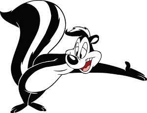 Pepe Le Pew Leaning Vinyl Die Cut Decal Sticker 4