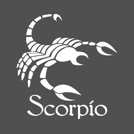 Scorpio Zodiac Sign Die Cut Decal Sticker 4 Sizes