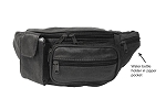 Fanny Pack w Cell Phone & Water Bottle Holders Black