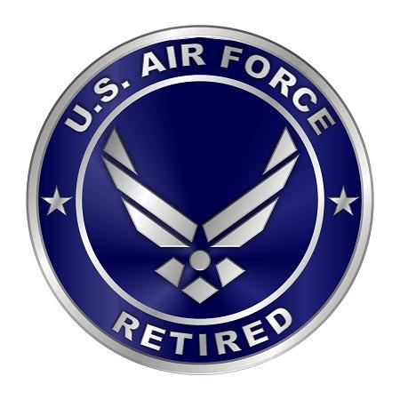 Air Force Retired Emblem Die Cut Decal Sticker 4 Sizes