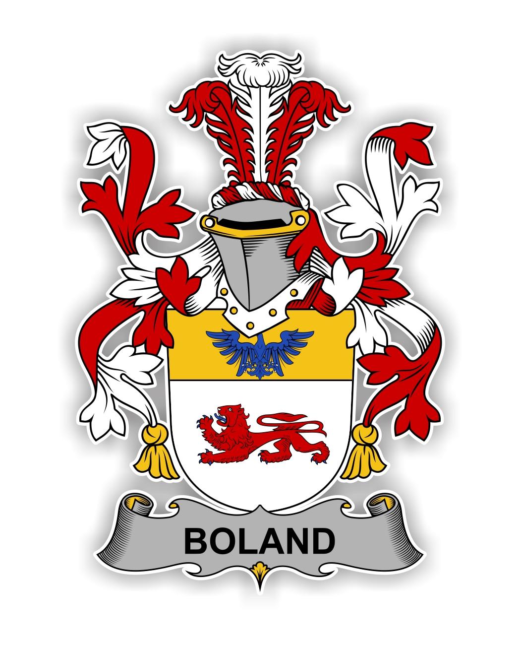 Boland Family Crest Vinyl Die Cut Decal Sticker 4