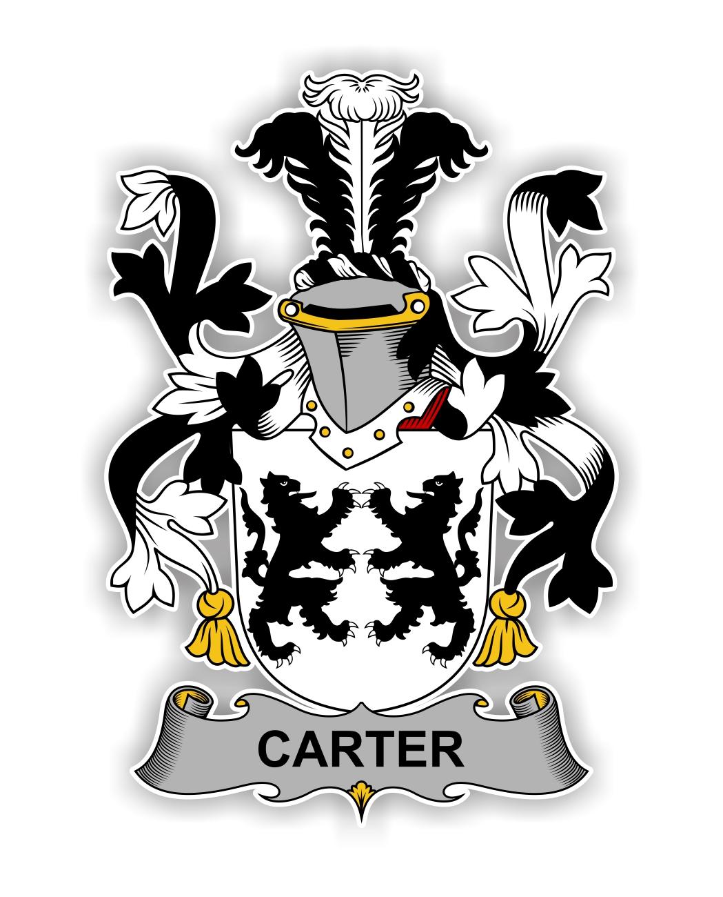 Carter Family Crest Vinyl Die Cut Decal Sticker 4