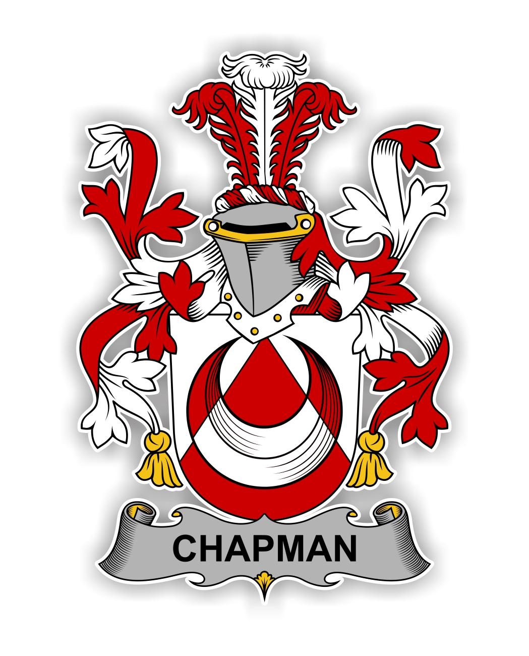Chapman Family Crest Vinyl Die Cut Decal Sticker 4