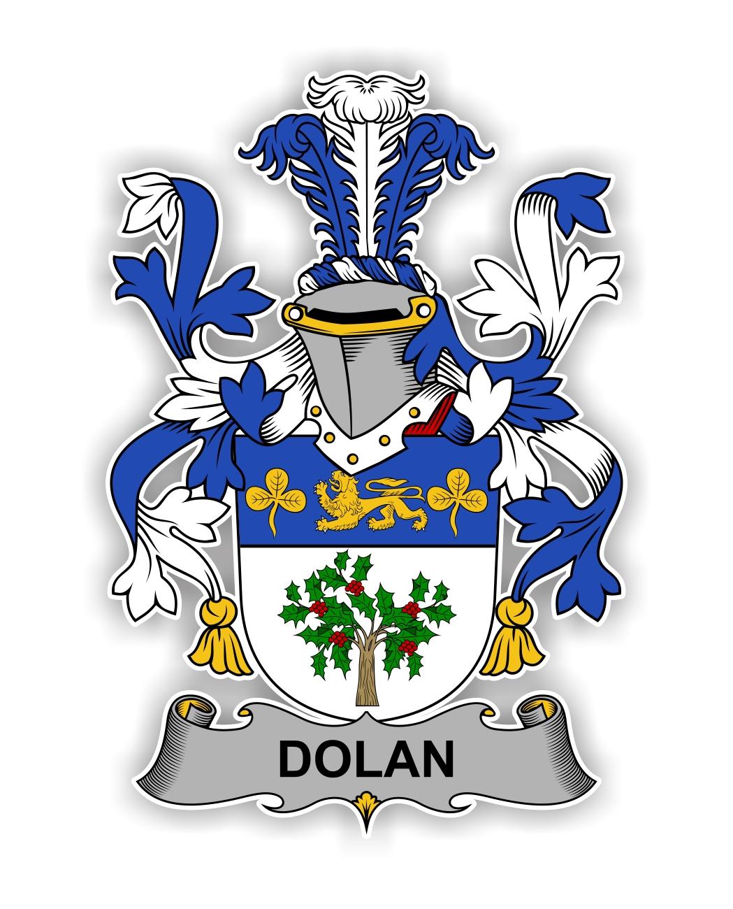 Dolan Family Crest Vinyl Die Cut Decal Sticker 4 Sizes