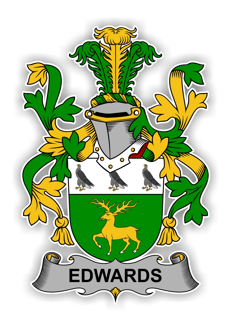 Edwards Family Crest Vinyl Die Cut Decal Sticker 4