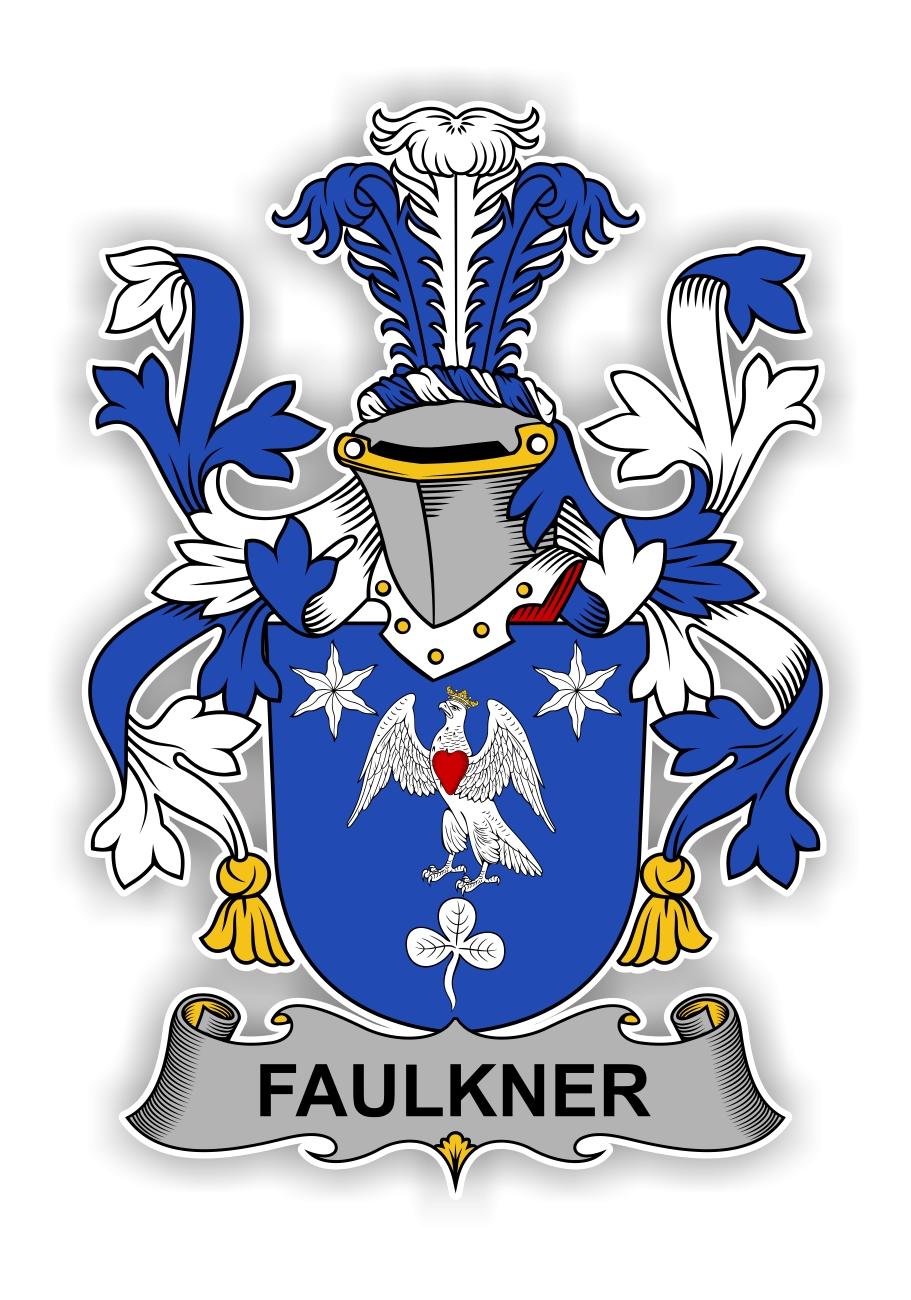 Faulkner Family Crest Vinyl Die Cut Decal Sticker 4