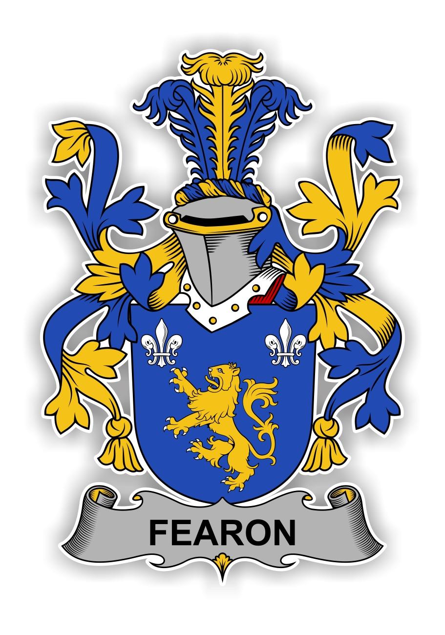 Fearon Family Crest Vinyl Die Cut Decal Sticker 4