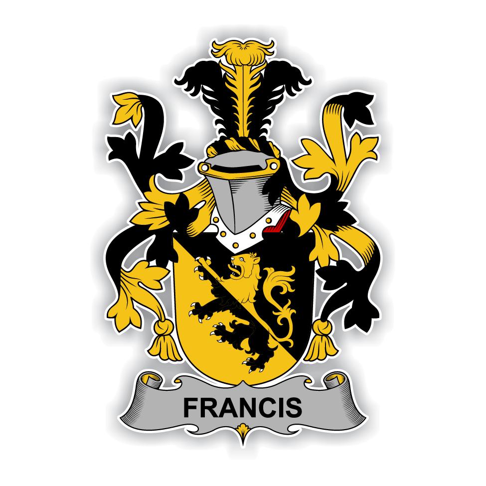 Francis Family Crest Vinyl Die Cut Decal Sticker 4
