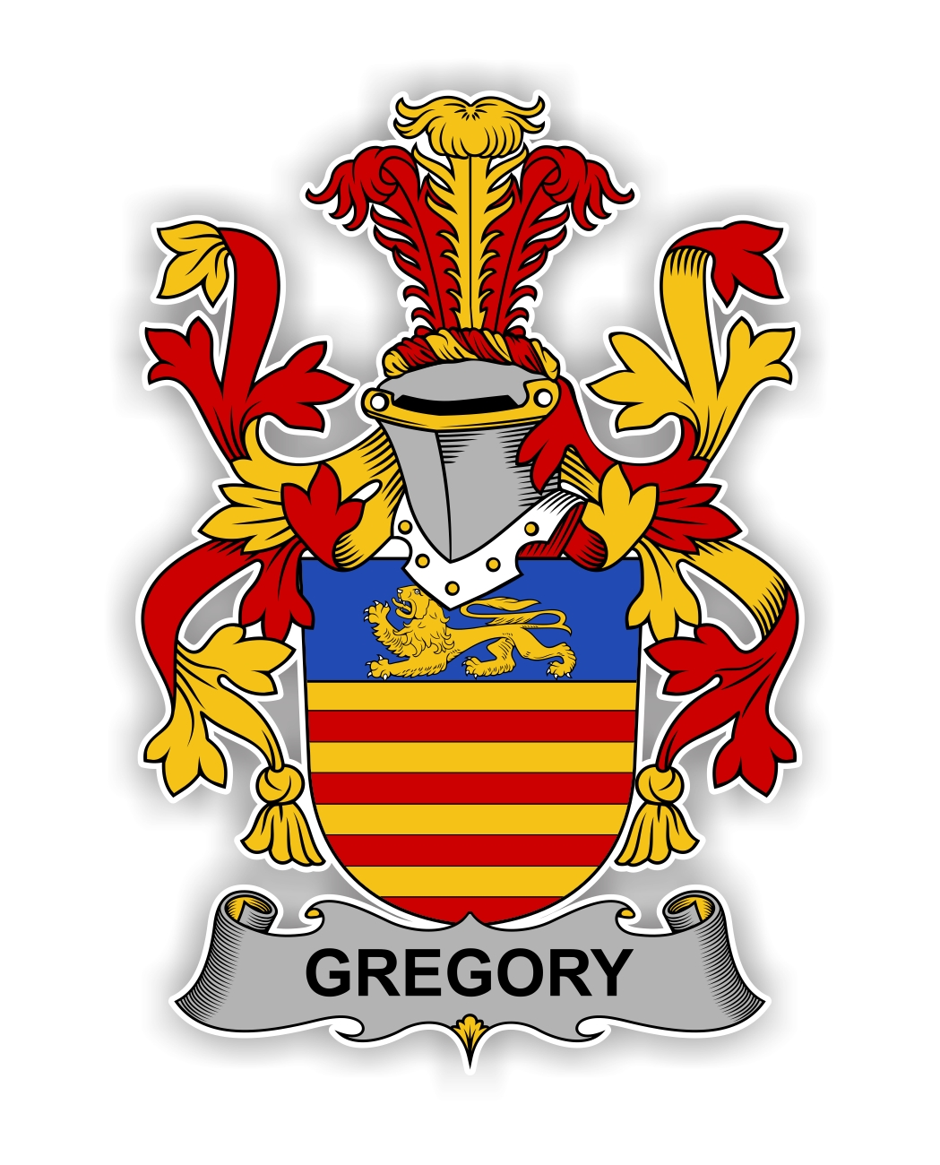 Gregory Family Crest Vinyl Die Cut Decal Sticker 4