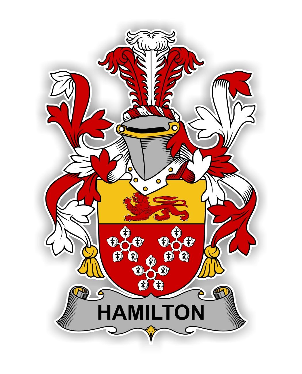 Hamilton Family Crest Vinyl Die Cut Decal Sticker 4