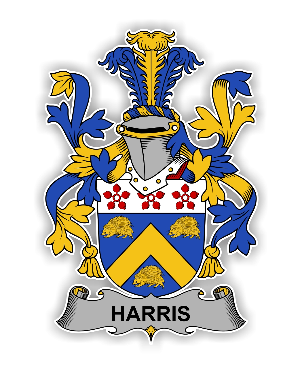 Harris Family Crest Vinyl Die Cut Decal Sticker 4