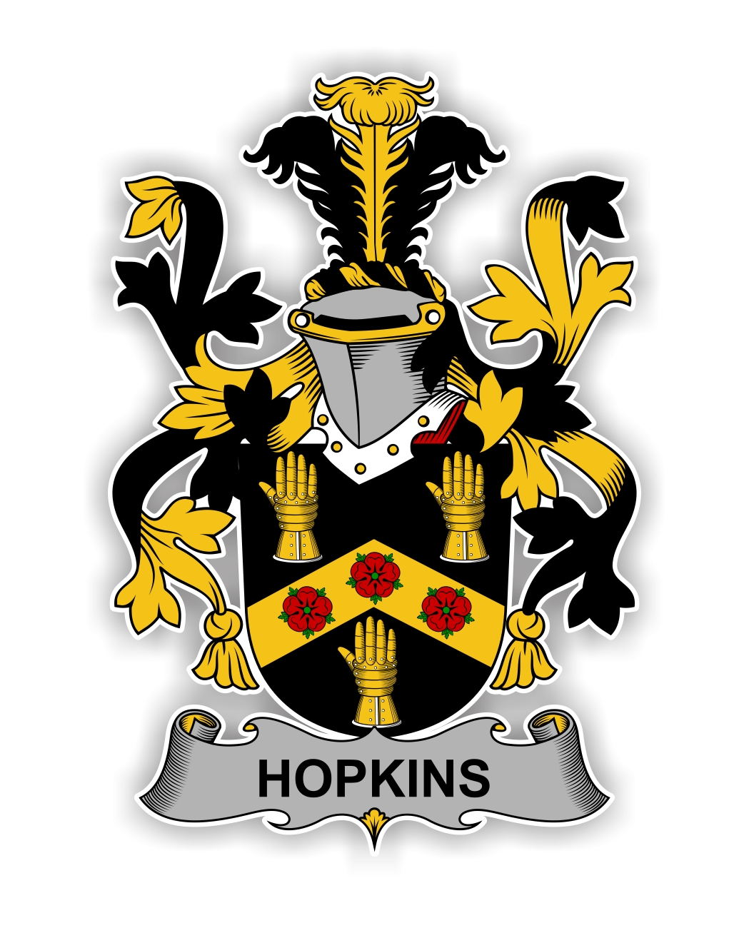 Hopkins Family Crest Vinyl Die Cut Decal Sticker 4