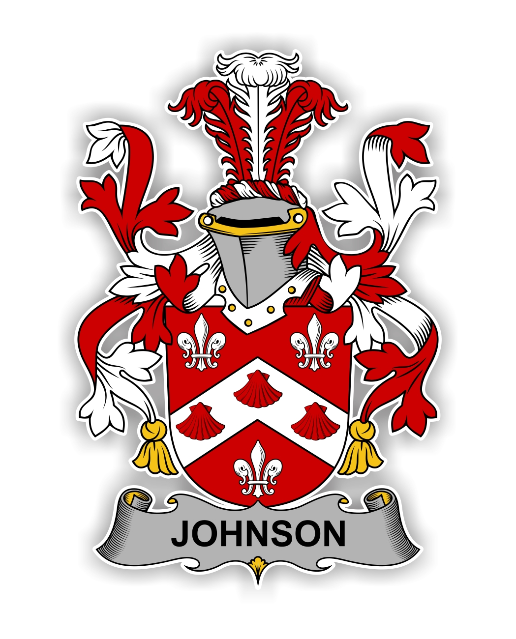 Johnson Family Crest Vinyl Die-Cut Decal / Sticker ** 4 Sizes **