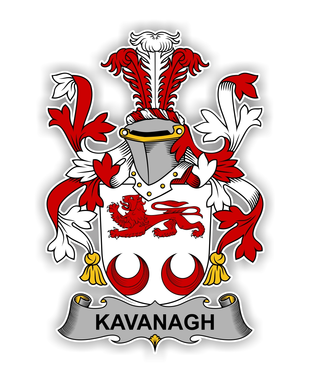 Kavanagh Family Crest Vinyl Die Cut Decal Sticker 4