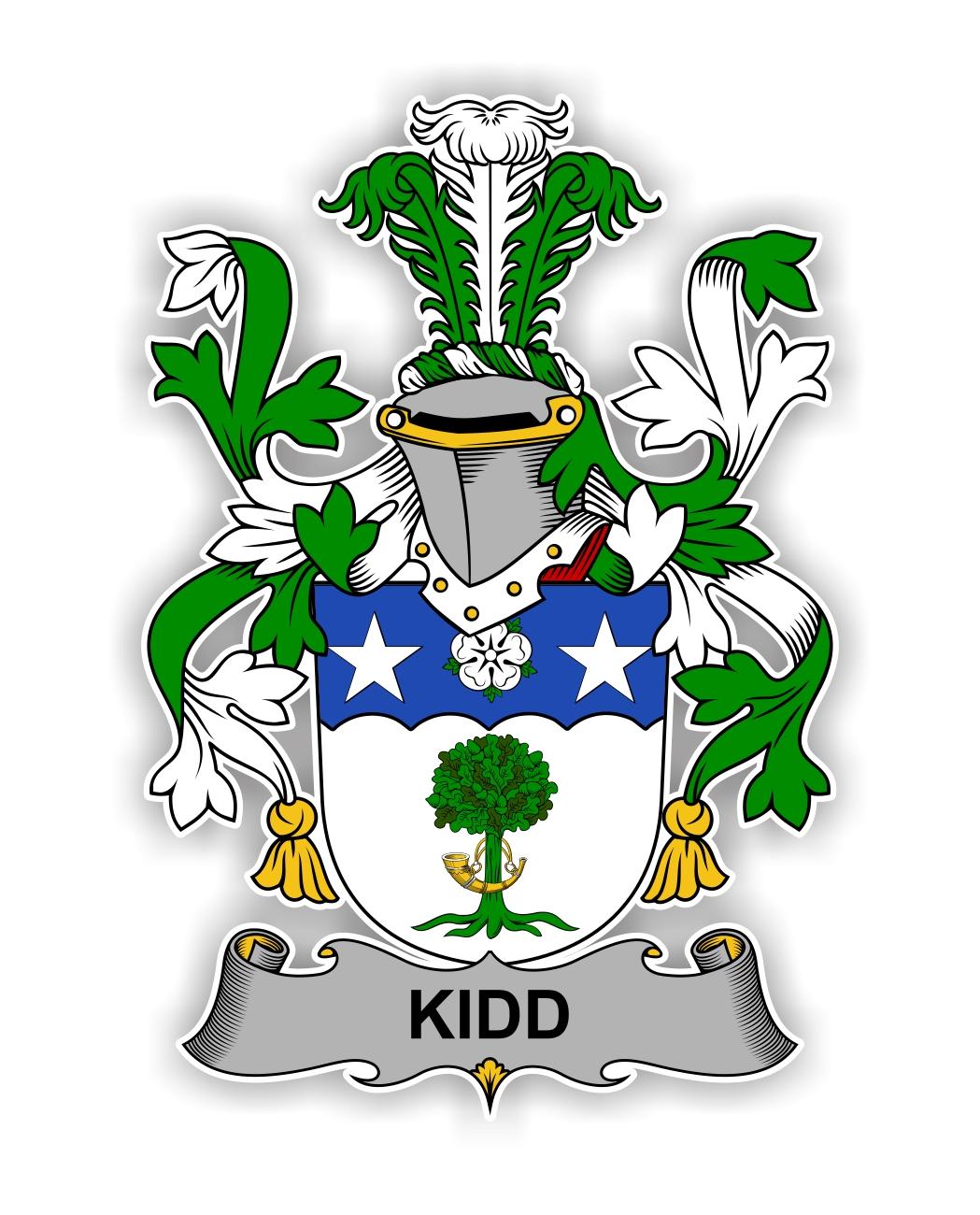 Kidd Family Crest Vinyl Die Cut Decal Sticker 4 Sizes