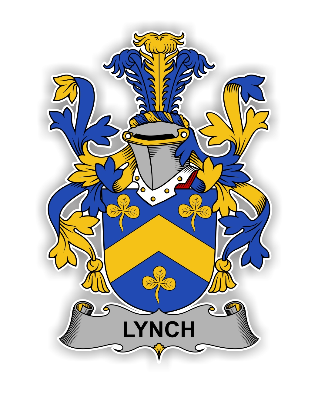 Lynch Family Crest Vinyl Die-Cut Decal / Sticker ** 4 Sizes