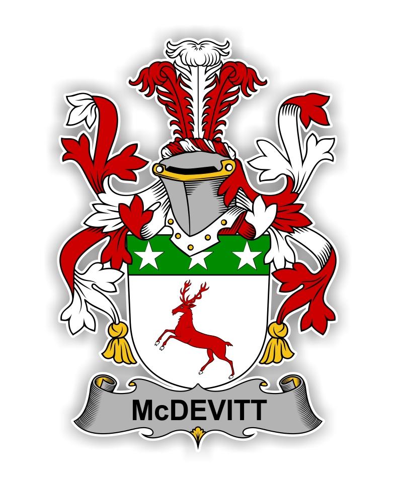 Mcdevitt Family Crest Vinyl Die Cut Decal Sticker 4