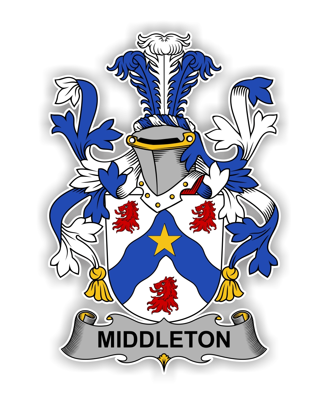 Middleton Family Crest Vinyl Die Cut Decal Sticker 4
