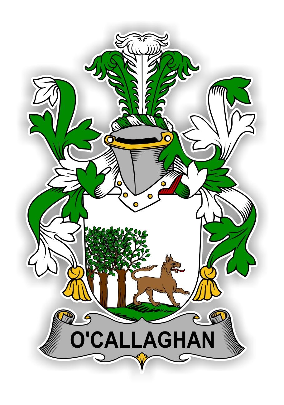 O Callaghan Family Crest Vinyl Die Cut Decal Sticker