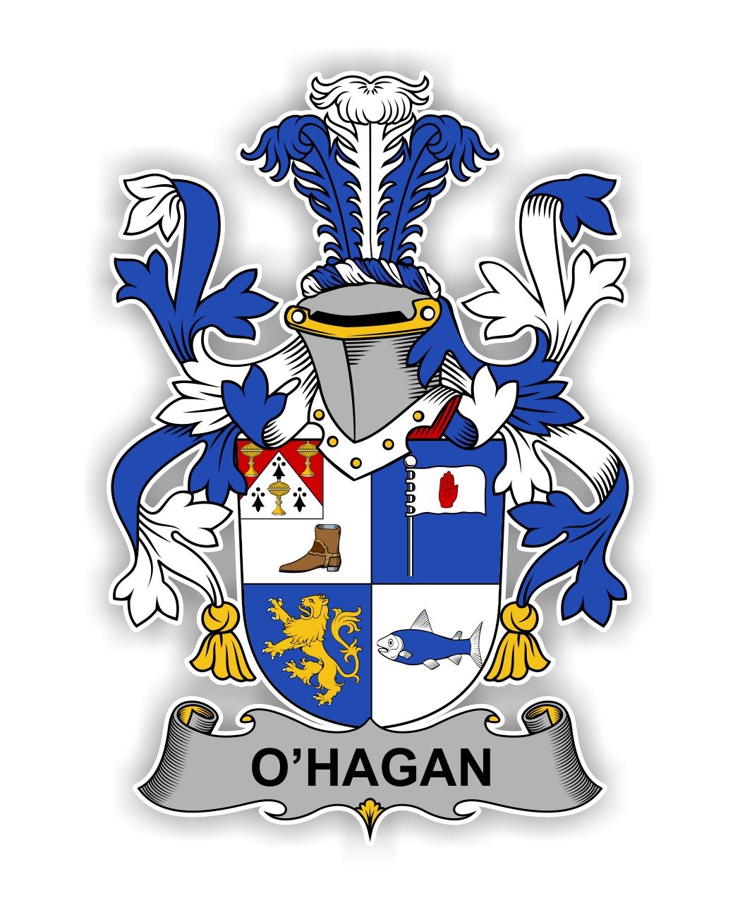 O Hagan Family Crest Vinyl Die Cut Decal Sticker 4