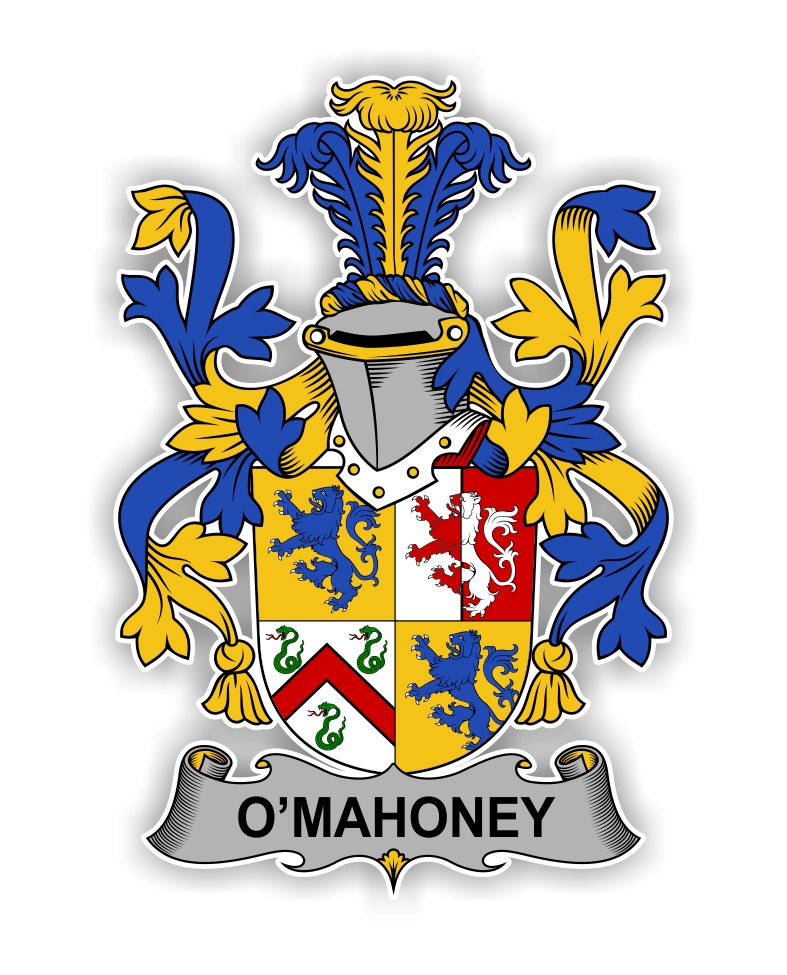 O Mahoney Family Crest Vinyl Die Cut Decal Sticker 4