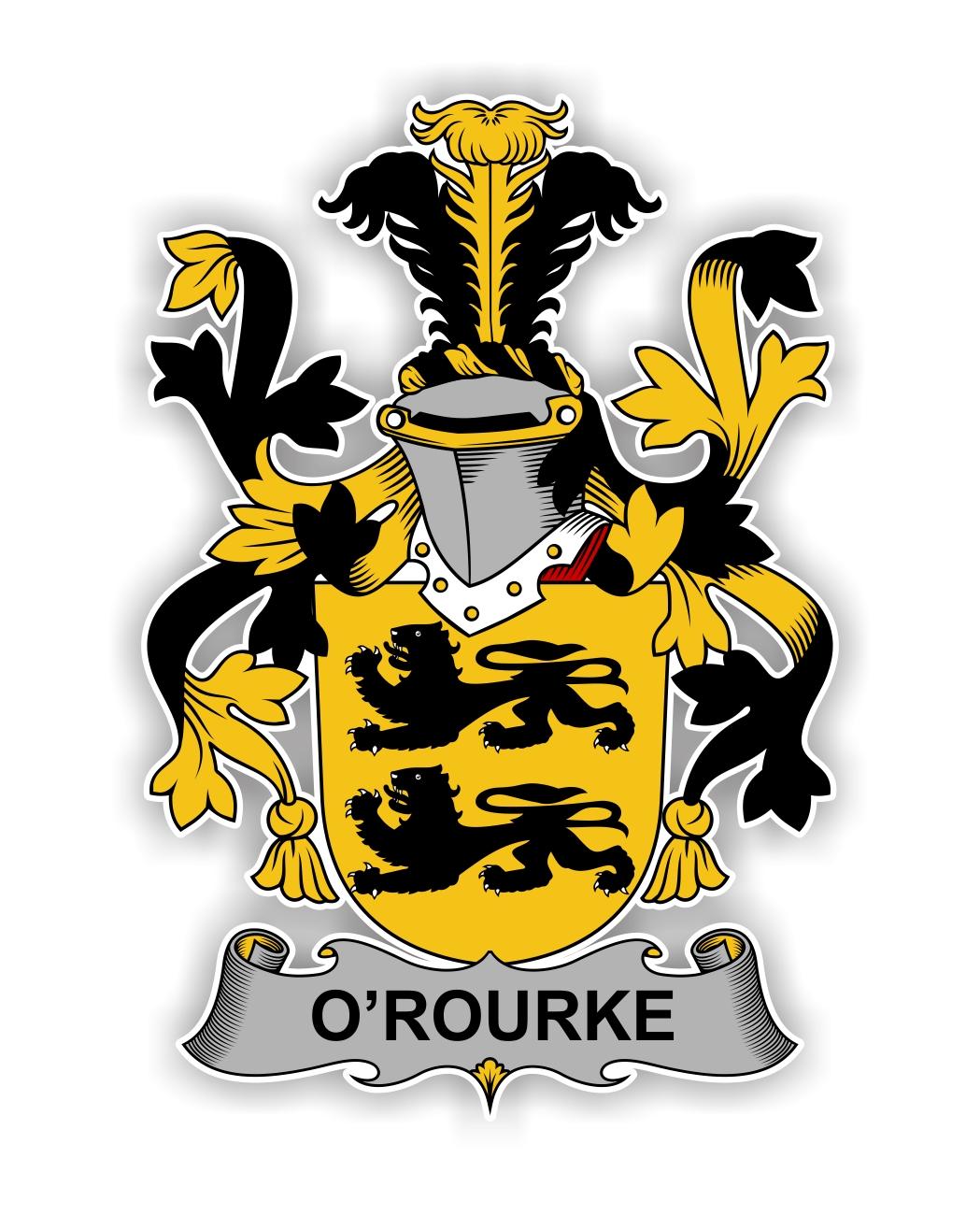O Rourke Family Crest Vinyl Die Cut Decal Sticker 4