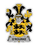O'Rourke Family  Crest Vinyl Die-Cut Decal / Sticker ** 4 Sizes **