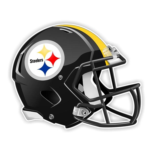 Pittsburgh Steelers New Shape Helmet Die Cut Decal 4