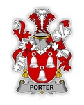 Porter Family  Crest Vinyl Die-Cut Decal / Sticker ** 4 Sizes **