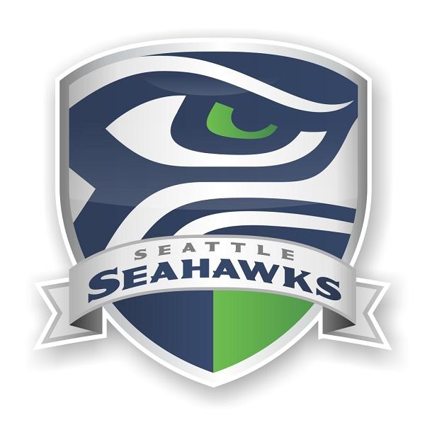 Seattle Seahawks Shield Die Cut Decal 4 Sizes