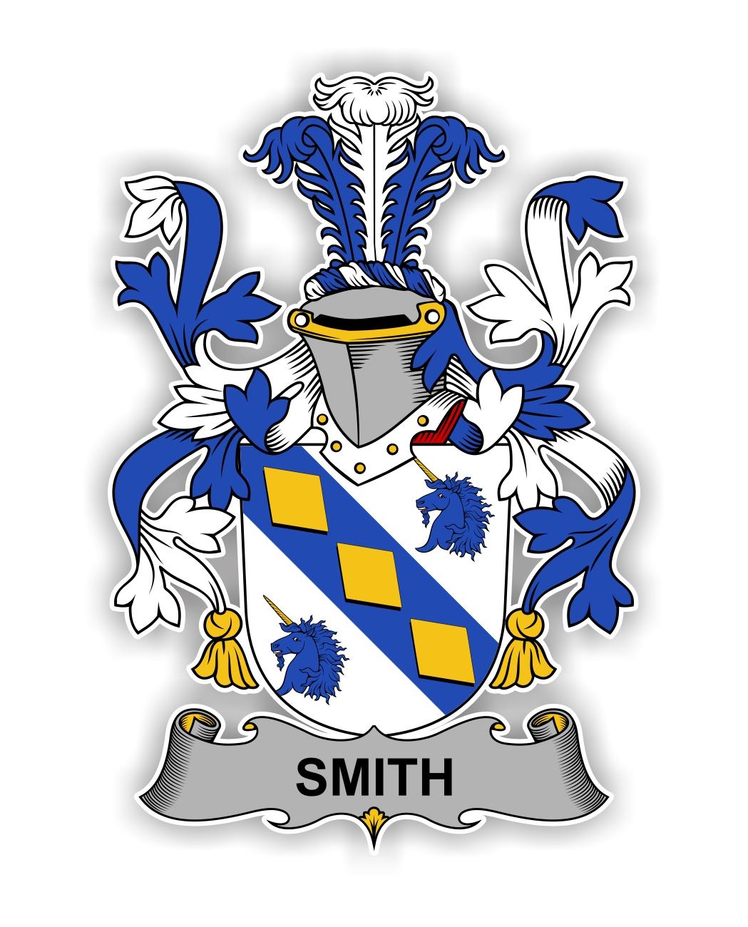 Smith Family Crest Vinyl Die Cut Decal Sticker 4 Sizes