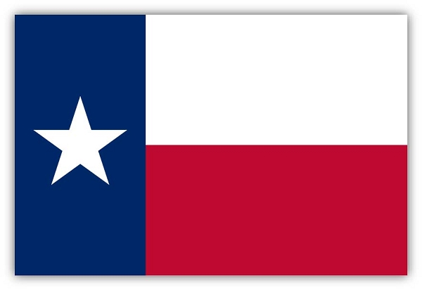 Texas State Flag Die Cut Decal Sticker 4 Sizes