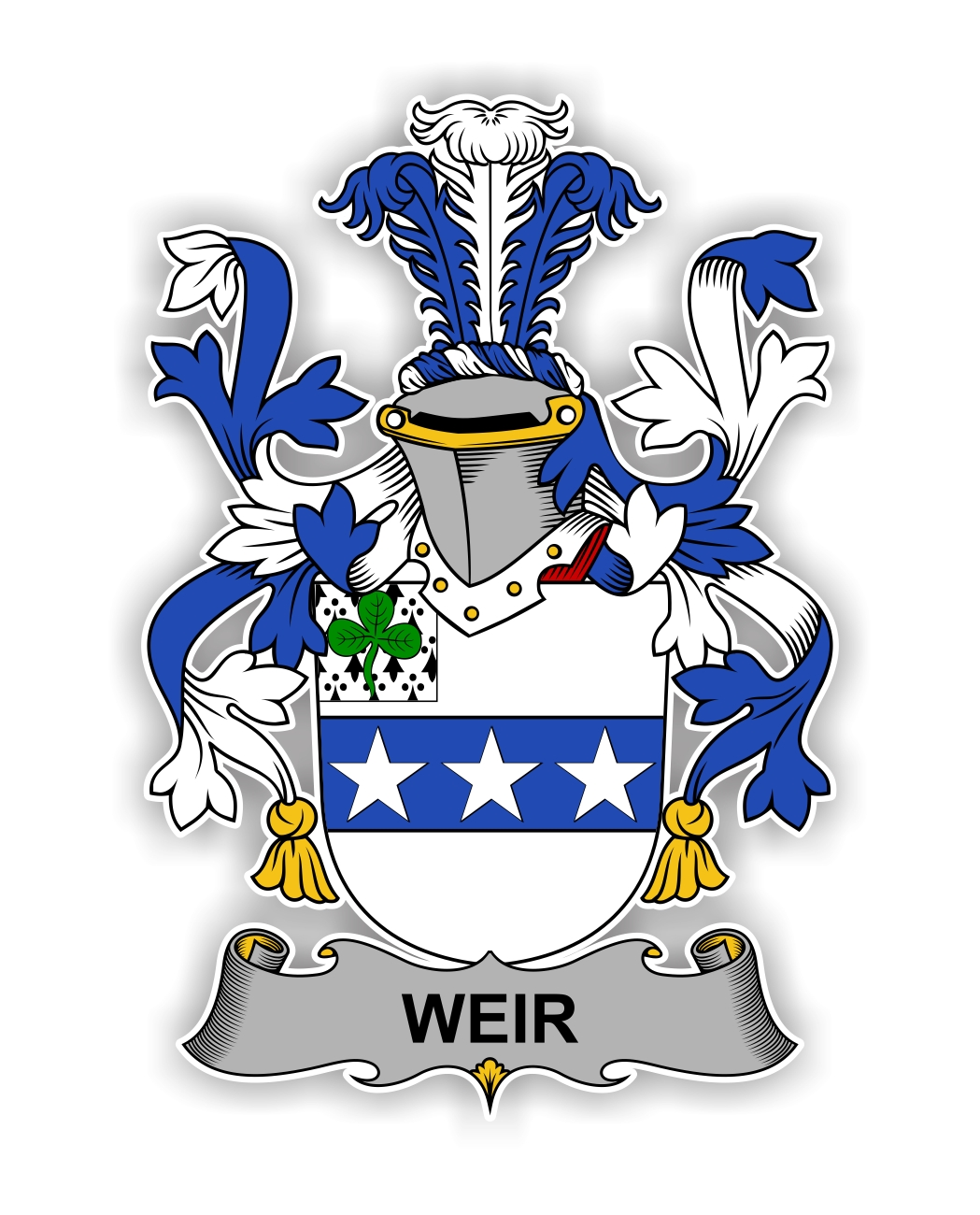 Weir Family Crest Vinyl Die Cut Decal Sticker 4 Sizes
